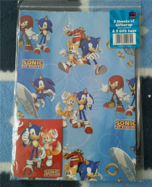 Sonic Wrapping Paper And Tags By Blue Sonikku On Deviantart
