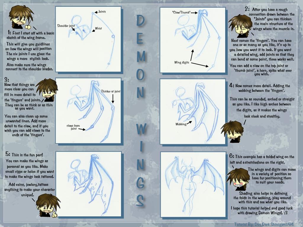 Demon Wing Tutorial by Blue-Sonikku