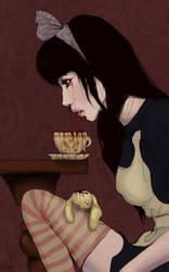 Why You Silly Broken Alice by AmandaKieferArt
