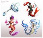 Mermaid Mage Variations