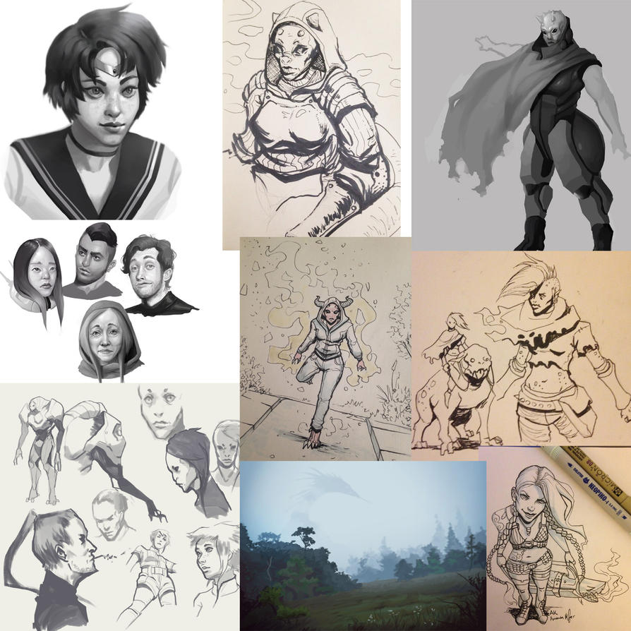 Sketch Dump by AmandaKieferArt