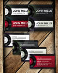 Dj-producer-club business card template