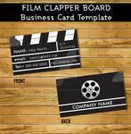 Film clapper Business Card Template