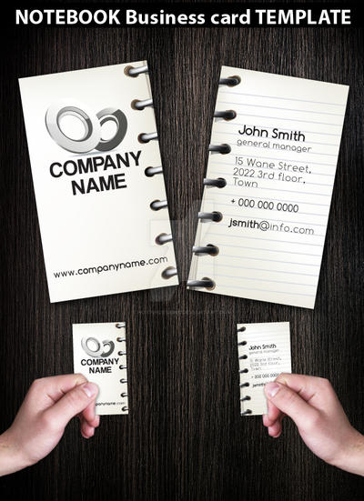 Notebook Business Card template by Hotpindesigns