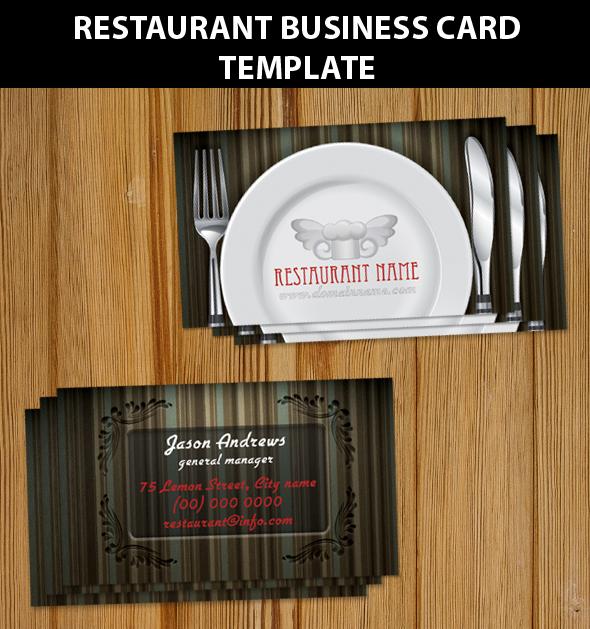 Restaurant Business Card Templ
