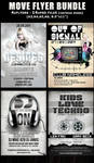Move Party-Club Flyer template Bundle