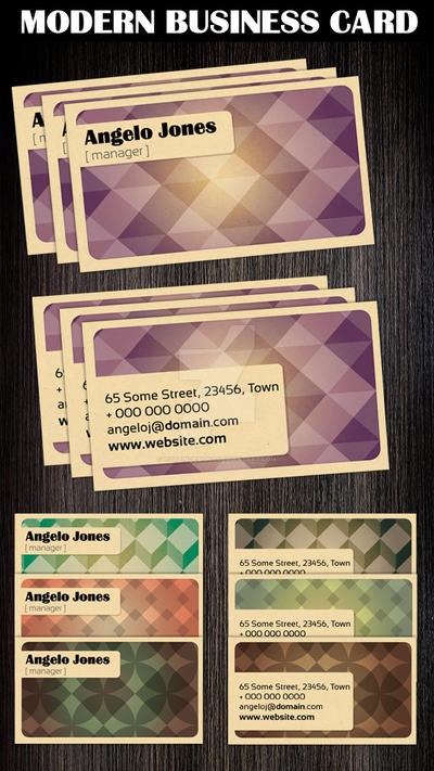 Modern Business Card Template by Hotpindesigns