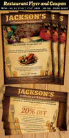Restaurant-Bar Magazine Ad or Flyer Template V2
