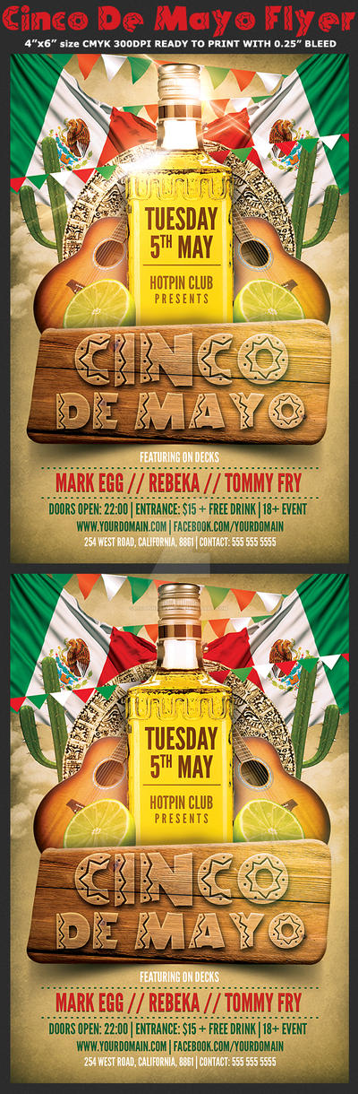 Cinco De Mayo Party Flyer Template 2 by Hotpindesigns
