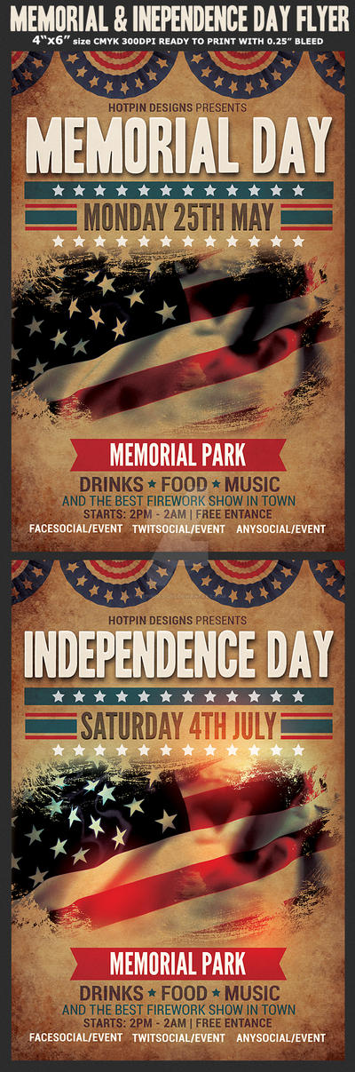 Memorial Day Flyers On Flyerdesigns  Deviantart