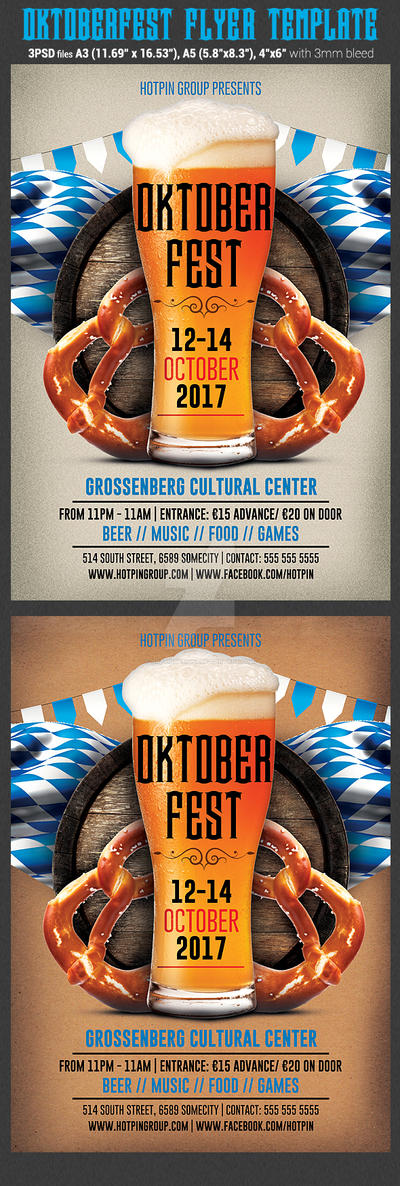 Oktoberfest Poster-Flyer Template by Hotpindesigns