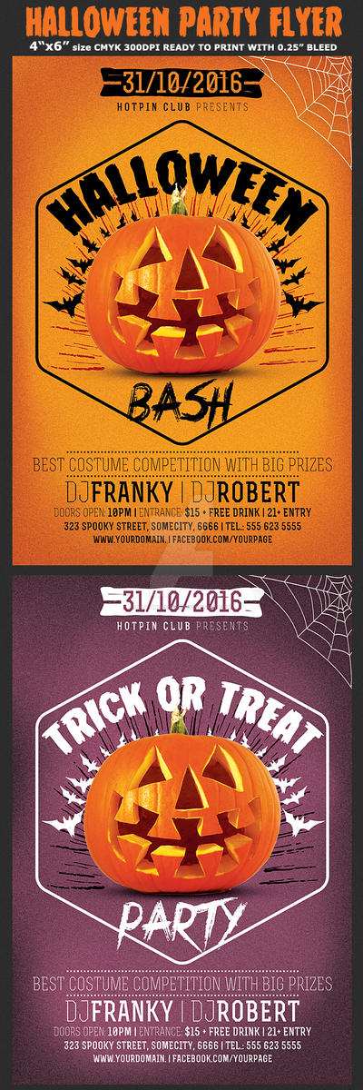 Halloween Bash Party Flyer by Hotpindesigns