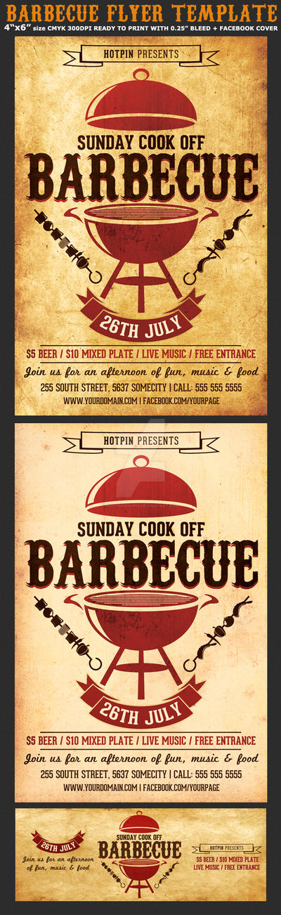 free bbq dinner flyer templates downloads free vector