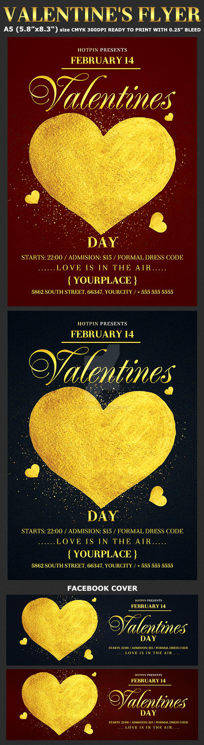 Valentines Day Psd Flyer Template by Hotpindesigns