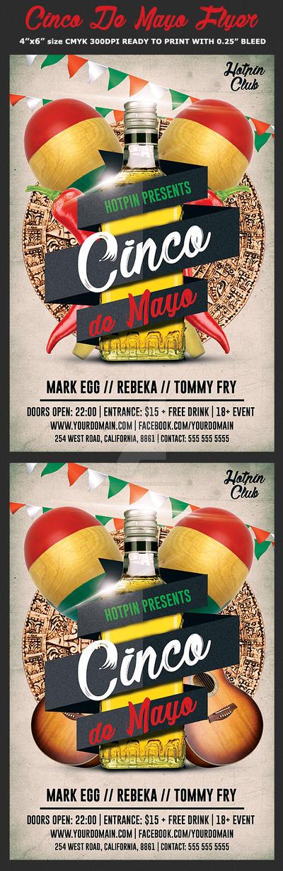 Cinco De Mayo Flyer Template by Hotpindesigns
