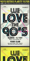 90s Retro Party Flyer Template