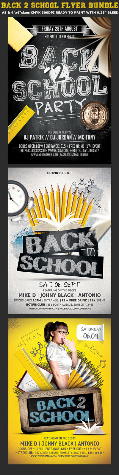 back back to school flyer template