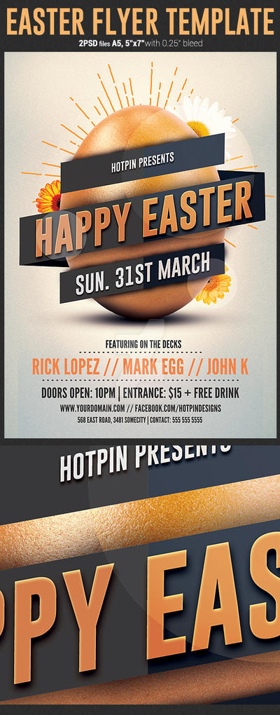 Easter Flyer Template by Hotpindesigns
