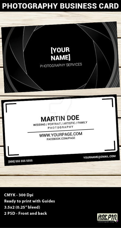 Photographer Business Card Template by Hotpindesigns