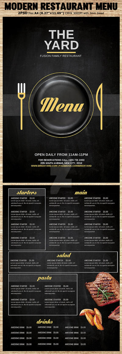 Modern-Restaurant-Food-Menu-Flyer-Preview by Hotpindesigns