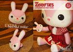 Zoofties :: Bunny for Zoe (+ponytail)