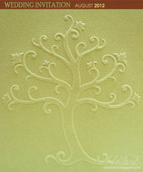 Wedding Invitation for Marta + Roger_Embossed Tree by Nestery