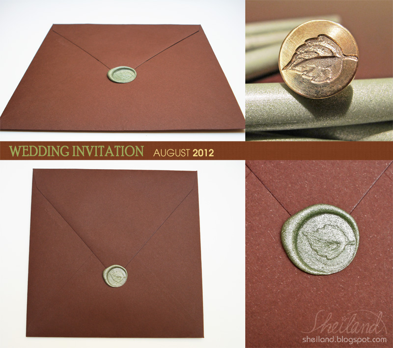 Wedding Invitation_Envelope And Wax Seal By Nestery On