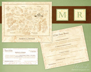 Wedding Invitation _ Map and Hotel by Nestery