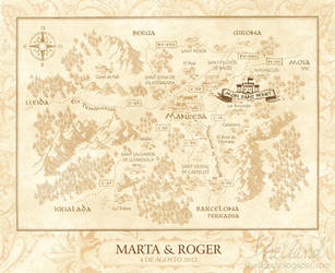 Wedding Invitation for Marta + Roger_Medieval Map by Nestery