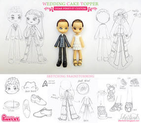 Pinky-st Wedding Custom! Sketches by Nestery