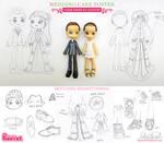 Pinky-st Wedding Custom! Sketches