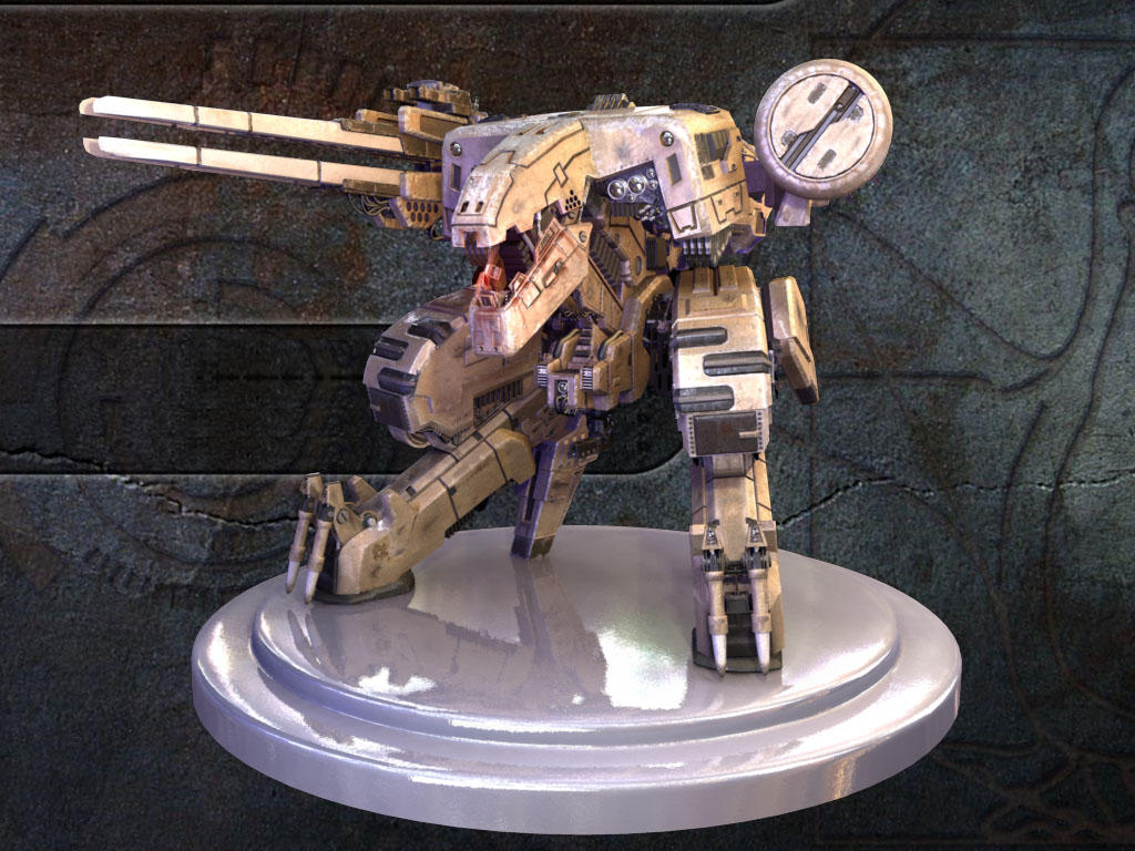 Metal Gear Rex Final Renders by Puckducker