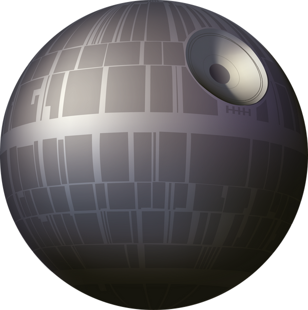 how to draw the death star