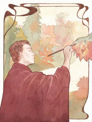 Autumnus, the Painter by Apfelmaeuschen