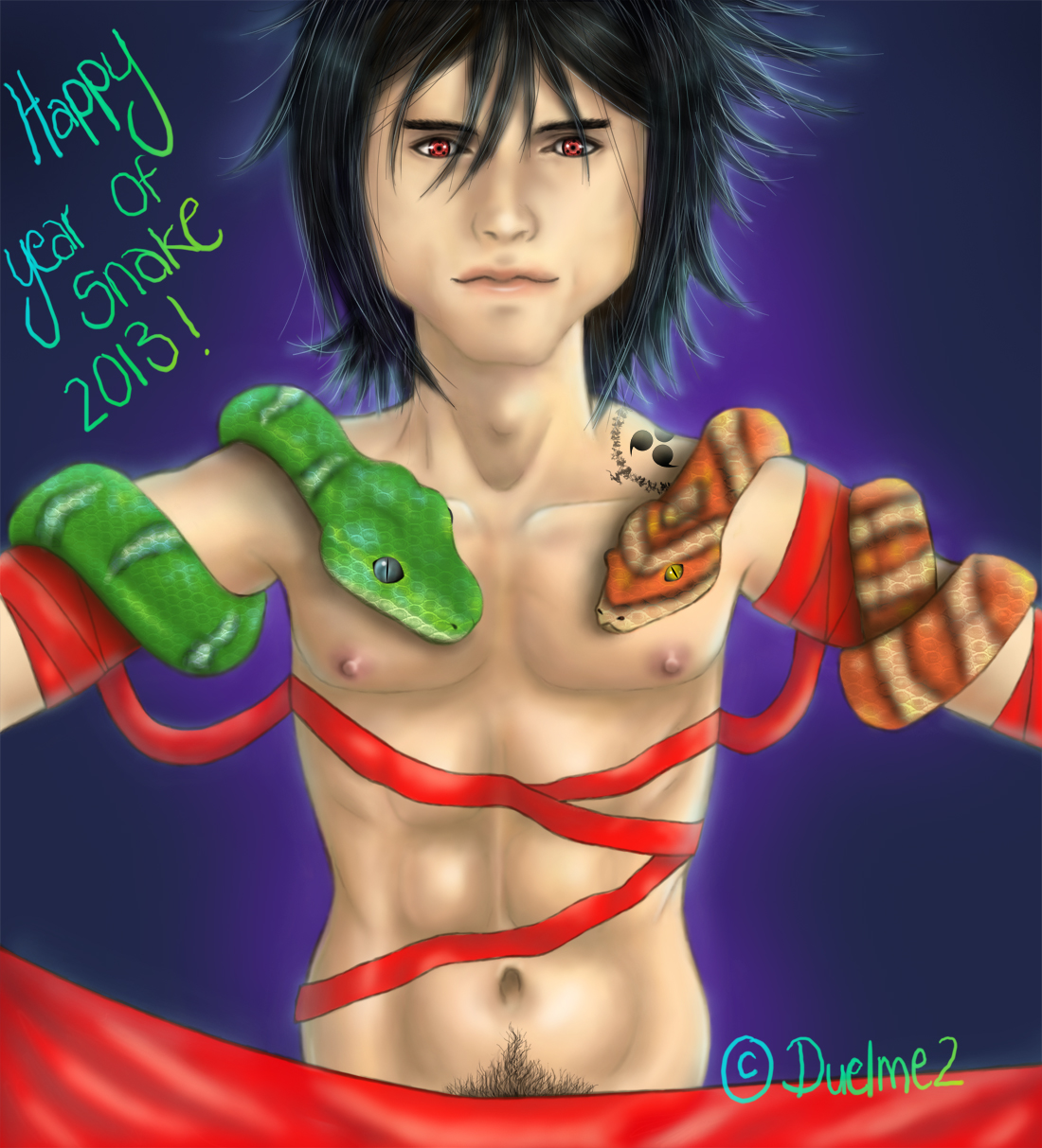 New Year Sasuke by duelme2