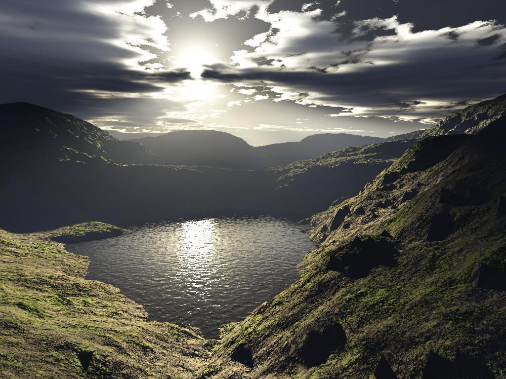 Mountain Lake by artful-xtra