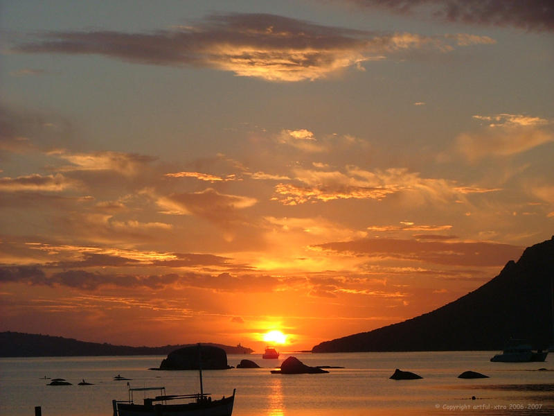 Sunset from Corsica by artful-xtra