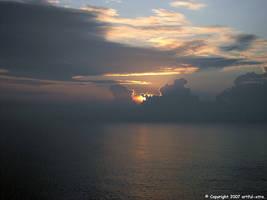 Sunset from Croatia by artful-xtra