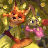 Nick and Judy [Zootopia Fan Art] by VY-RISS
