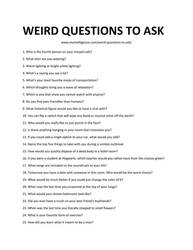 Weird Questions to Ask meh!