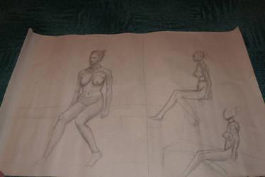 Life drawing 2 by jablar