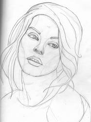 Inge, Sketch WIP by jablar