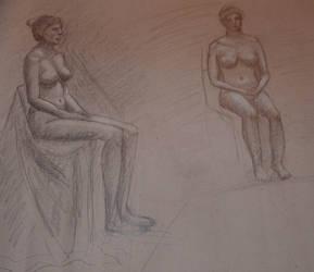 Life drawing 3 by jablar