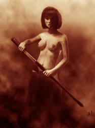 Swordgirl by jablar