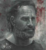 Digital portrait Rick from Walking dead by jablar