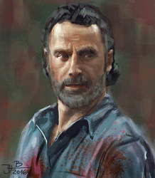 Rick from Walking Dead by jablar