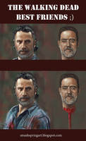 Walking dead best friends by jablar