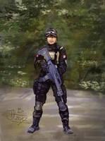 Gungirl digital sketch by jablar