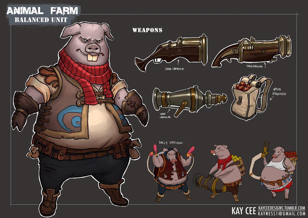 ANIMAL FARM: Player Unit - Cannon Hog by KaynessArt