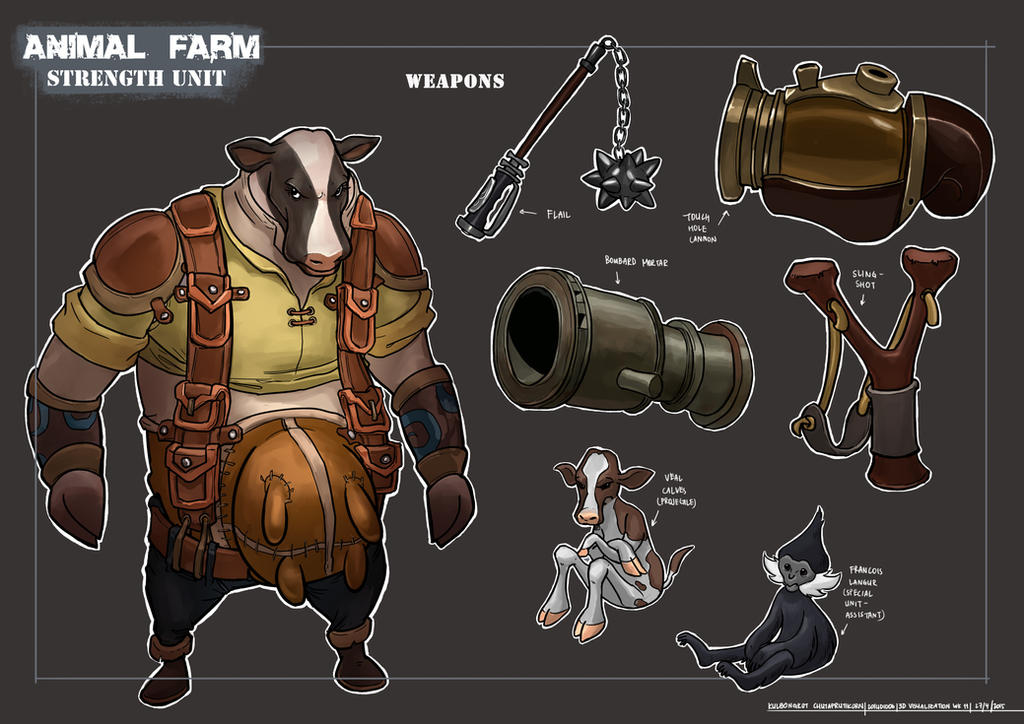ANIMAL FARM: Player Unit - CATAPULT COW by KaynessArt